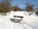 Wanderer-Verschnaufe - verschneit